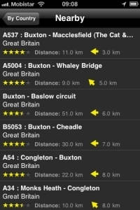 iPhone App Motorcycle Routes Screenshot5